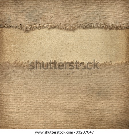 Texture of the old fabric and paper