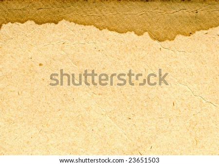 texture of the old paper with brown spot