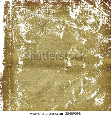 texture of the old sheet of the yellow paper