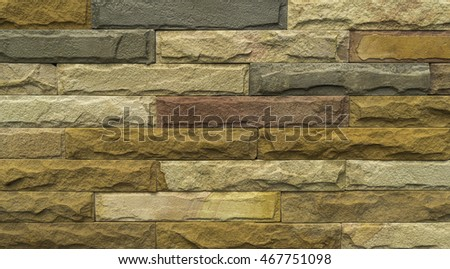 Texture of the old stone wall .