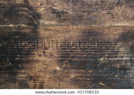 Texture of the old wooden cutting board background  - stock photo
