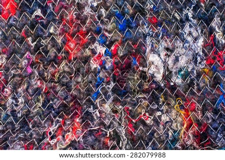 texture of the piece of cloth textile fabric handmade - stock photo