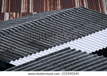 Texture of the roof