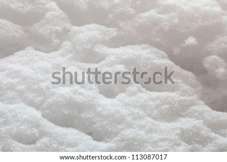 texture of the snow on a sunny day in backlit