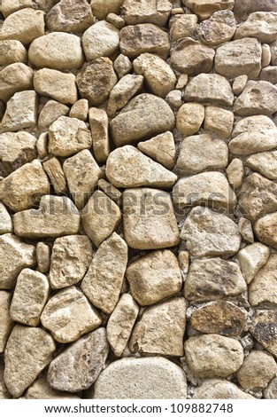 texture of the stone wall for background - stock photo