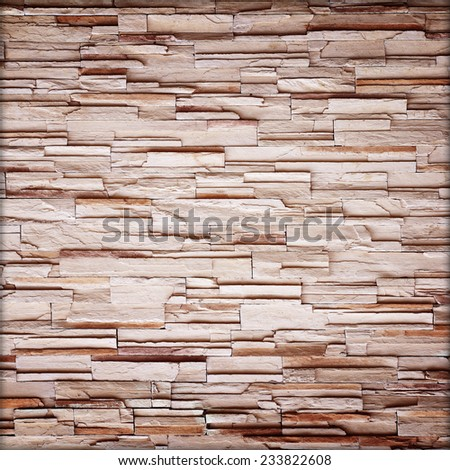 texture of the stone wall for background,Sandstone wall background,Pattern of Sandstone Brick Wall Surfaced - stock photo