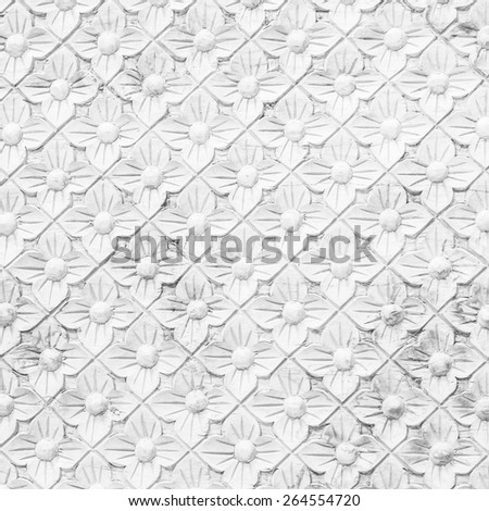 texture of the temple wall in thailand - stock photo