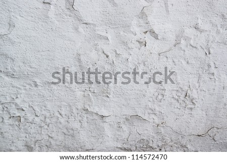 texture of the walls whitewashed - stock photo