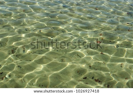 texture of the water in sunny weather