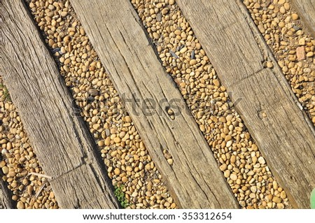 Texture of the wood with stone.