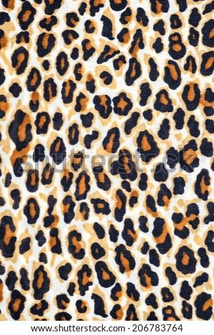 Texture of tiger fabric