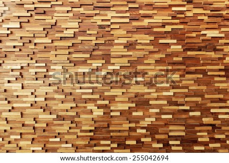 Texture of timber wood wall - stock photo