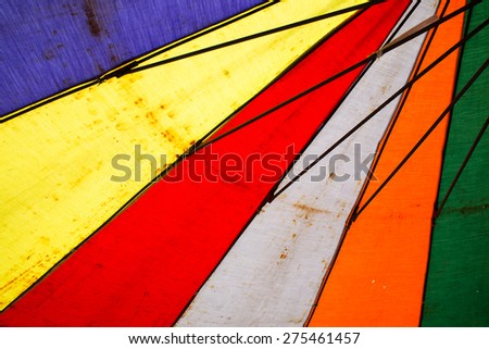 Texture of under Colorful umbrella