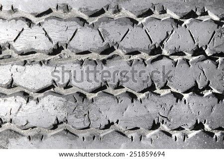 Texture of used car tire. - stock photo
