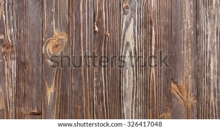 Texture of vertical wooden planks mahogany - stock photo