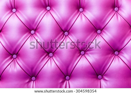 Texture of vintage buttoned leather stylish upholstery - stock photo