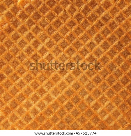 texture of Waffle - stock photo