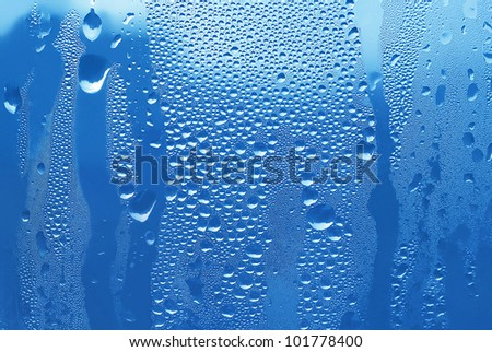 texture of water drops on glass