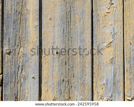 Texture of weathered planks of wood on old barn - stock photo