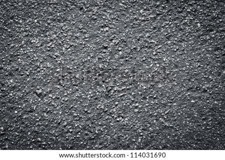texture of wet asphalt road - stock photo