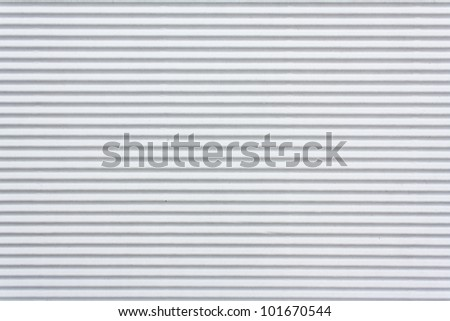 Texture of white corrugated paper for background used - stock photo