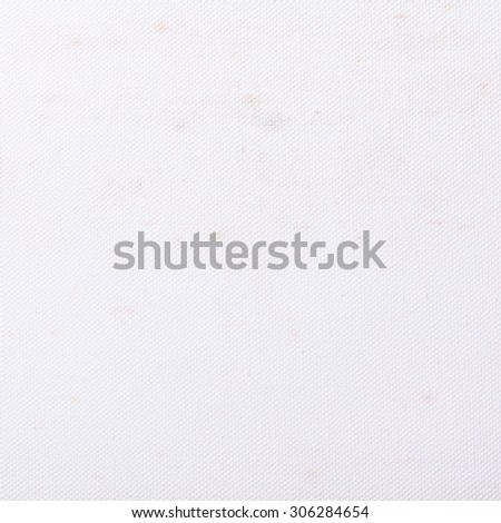 Texture of white old artistic canvas. - stock photo