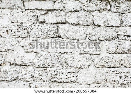texture of white painted wall of limestone