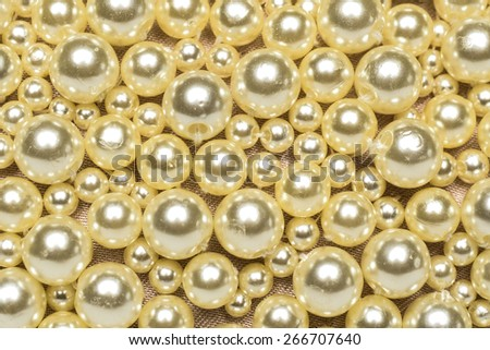 texture of white pearls - stock photo