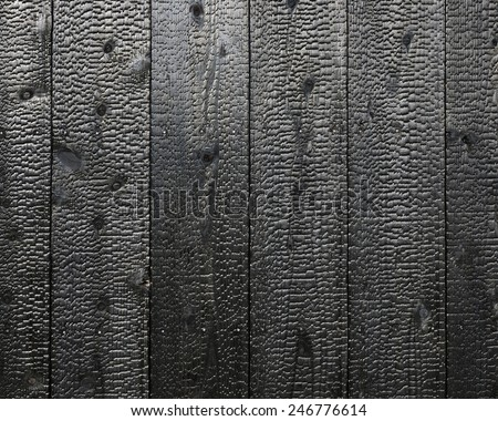 Texture of wood charcoal - stock photo