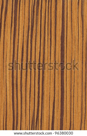 Texture of zebrano (high-detailed wood texture series) - stock photo