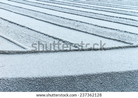 Texture of Zen garden - stock photo