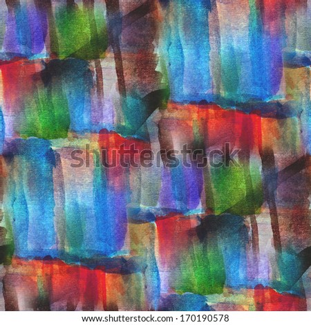 texture palette red, blue, green picture frame graphic style watercolor background