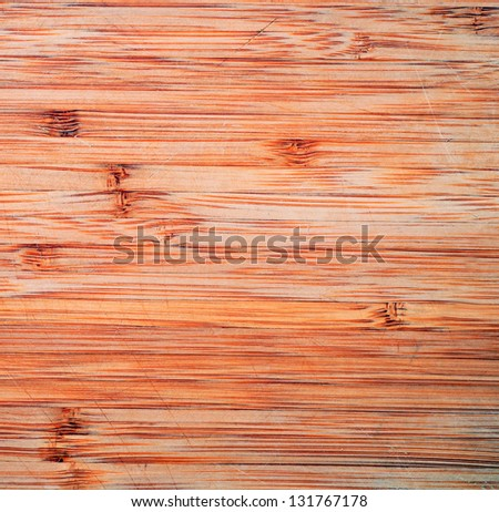 texture paper with ribbon and wooden desk with copy space - stock photo