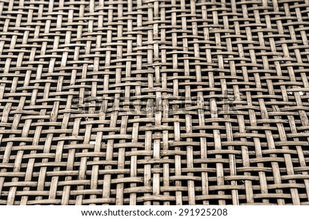 Texture pattern weave Brown bamboo - stock photo