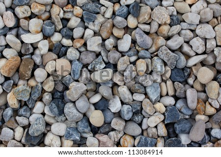Texture pebbles with various colour - stock photo