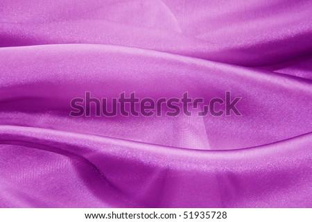Texture purple organza, silk fabric. - stock photo