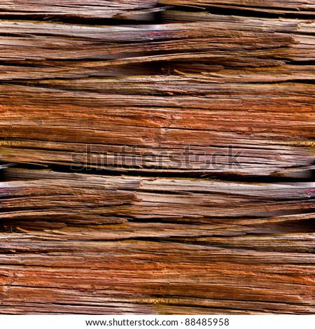 texture seamless  of old wood with cracks - stock photo