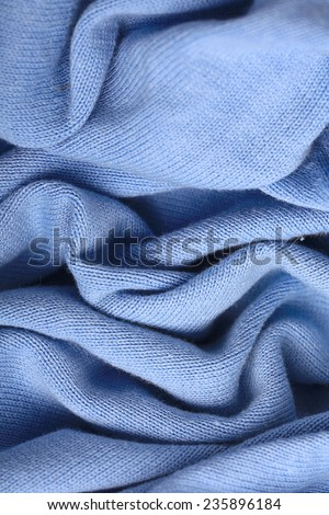 texture soft blue wool sweater - stock photo