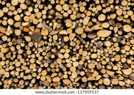 texture stack of firewood