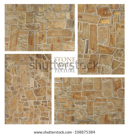 Texture: Stone Wall 8 - stock photo