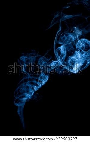 Texture swirling cigarette smoke on black background