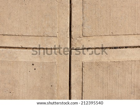 Texture - tan color sidewalk background and abstract. - stock photo