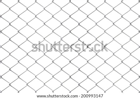 Texture the cage metal net isolate on white background. This has clipping path.