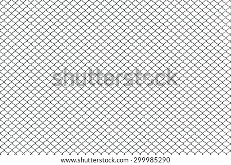Texture the cage metal net isolate on white background. This has clipping path. - stock photo