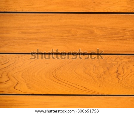 Texture the wall of modern teak wood. - stock photo