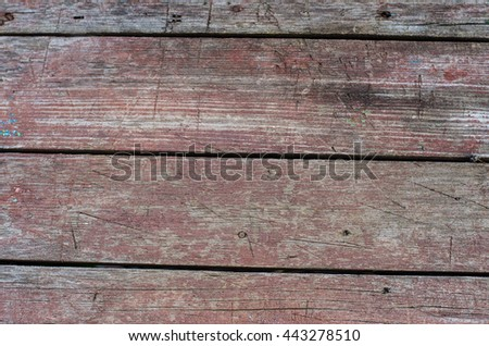 texture topic: old wooden boards painted red - stock photo