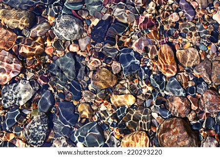 texture transparent clear waters of the sea lake - stock photo
