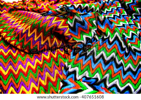 Texture two colorfully textile canvas - stock photo