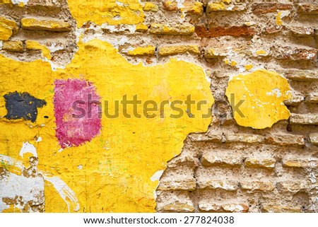 texture wall in africa morocco the old brick construction concrete - stock photo