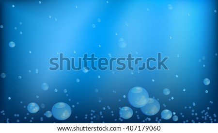 Texture water table. Cool, fresh, blue aqua with bubbles background decoration wallpaper the walls.